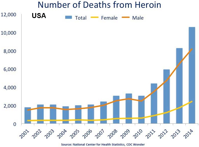 Deaths from heroin